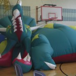 Life size inflatable dinosaur model