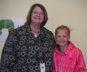 student principal for the day with her principal