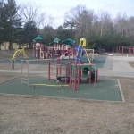 Picture of the new playgound at the Chickering School.