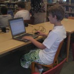 cChickering reporter working on blog post