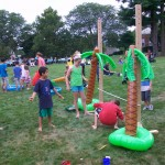 Children playing limbo at Dover Days