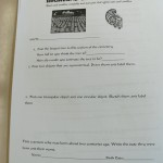 Image of math problems in a packet used in Cemetery Math.