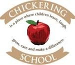 Chickering red apple with school mission statement.