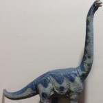 Rubber model of a Brachiosaurus; it's classroom name is Herb.