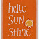 "Mrs. Grady's Icon which reads ""Hello SunShine""."