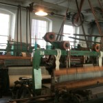 One of the 100 looms on a floor at the Boot Cotton Mill in Lowell, Massachusetts.