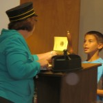 Immigration activity for students to experience being interviewed as an immigrant at Ellis Island.