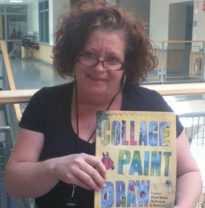 Image of Mrs. Pelletier with her newly published book.
