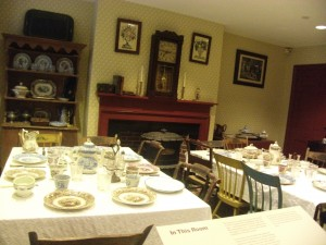 In the Mill Girls' Boarding House - an example of a typical dining room.