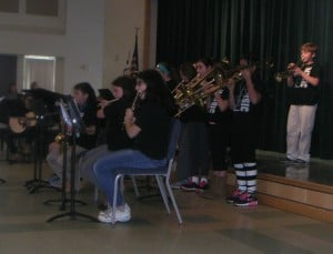 Picture highlighting the instruments played in the Jazz band.